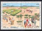 UN (V) 1986 Farming  /  Cattle  /  Palm Trees  /  Crops  /  Animals  /  Transport 4v blk (n39015)