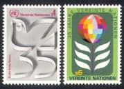 UN (V)  /  United Nations 1980 Flower  /  Dove  /  35th Anniversary  /  Animation 2v set n39021