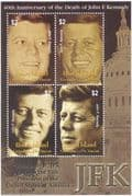 Union Island (St Vincent Grenadines) 2003 President John F Kennedy/JFK/People/Politics/History 4v m/s (n43906)