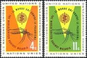 United Nations/UN 1962 Malaria/ Medical/ Insects/ Welfare/ Mosquitoes 2v set (n40326)