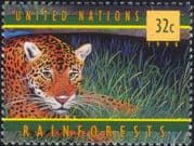 United Nations-UN (NY) 1998 Jaguar/ Cats/ Rainforest/ Animals/ Nature/ Wildlife 1v (n19329)