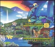 United Nations - UN (V) 1998 Ocelot/ Wild Cats/ Rainforests /Wildlife/ Toucan/ Bird /Nature/ Animals/ Conservation/ Environment 1v m/s (b6124)