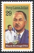 United States of America (USA) 1993 Percy Lavon Julian/ Medicine/ Science/ Medical/ Health/ Welfare/ People 1v (n41822)