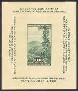 USA 1937 Tree  /  Forestry  /  Nature  /  StampEx  /  Mountain imp m  /  s (n22981)