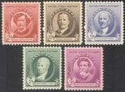 USA 1940 Famous Americans/ Artists/ People/ Art/ Paintings/ Sculptors 5v set (n41370)