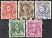 USA 1940 Famous Americans/ Authors/ People/ Writers/ Books/ Literature 5v set (n41372)