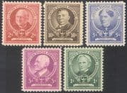USA 1940 Famous Americans/ Educationalists/ People/ Education 5v set (n41374)