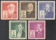 USA 1940 Famous Americans/ Inventors /People/ Science/ Technology 5v set (n41366)
