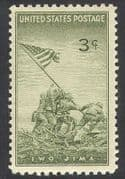 USA 1945 Iwo Jima/  Military/  WWII/ Second World War/ WW Two/  Army/  Soldiers/ National Flag/  Battles 1v (n39633)