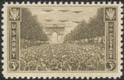 USA 1945 Victory Parade/ Military/ WWII/ World War Two/ Army/ Soldiers/ Planes/ Arc de Triomphe 1v (n45011)