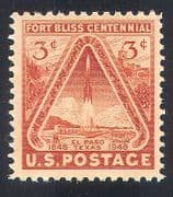 USA 1948 Fort Bliss/ Rocket/ Cactus/ Buildings/ Space  /  Military  /  Heritage 1v (n40803)