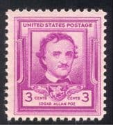 USA 1949 Edgar Allan Poe/ Authors/ People/ Writers/ Books/ Literature/ Poetry 1v (n43334)