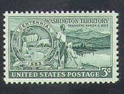 USA 1953 Cattle  /  Wagon  /  Settlers  /  Animals  /  Farming  /  Mountains  /  Transport 1v (n37269)