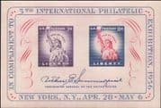 USA 1956 Statue of Liberty/ Stamp Exhibition/ S-on-S/ Stampex  imperf m/s (n44358t)