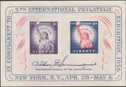 USA 1956 Statue of Liberty/ Stamp Exhibition/ S-on-S/ Stampex PRINT ERROR m/s (n44358u)