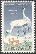 USA 1957 Whooping Crane/ Birds/ Nature/ Wildlife Conservation/ Environment 1v (n29229)