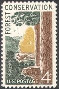 USA 1958 Deer/ Trees/ Forest/ Nature/ Conservation/ Environment/ Animals 1v (n29200)