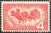 USA 1958 Horses/ Mail/ Stage Coach/ Transport/ Animals/ Nature/ Map 1v (n24299)