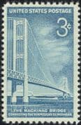USA 1958 Mackinac Bridge/ Architecture/ Transport/ Roads/ Engineering/ Boats/ Ships 1v (n45004)