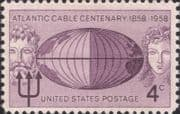 USA 1958 Trans-Atlantic Cable 100th/ Telegraph/ Communications/ Telecomms 1v (us1001)