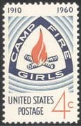 USA 1960 Camp Fire Girls/ 50th Anniversary/ Guides/ Youth/ Leisure 1v (n43623)