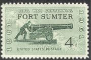 USA 1961 American Civil War/ Fort Sumter/ Cannon/ Soldiers/ Artillery/ Military/ Battles 1v (n42948)