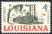 USA 1962 Louisiana Statehood 150th Anniversary/ Boats/ Paddle Steamer/ Transport/ Ships 1v (n29221)
