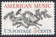 USA 1964 Music  /  Musical Instruments  /  Lute  /  Horn  /  Entertainment 1v (n40801)