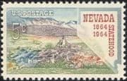 USA 1964 Nevada Statehood/ Buildings/ Architecture/ Church/ Mountains 1v (n44995)