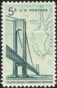 USA 1964 Verrazano-Narrows Bridge/ Architecture/ Engineering/ Transport/ Roads/ Maps 1v (n29222)