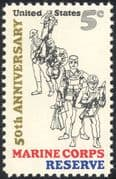 USA 1966 Marine Corps Reserve 50th Anniversary/ Soldiers/ Army/ Military/ Diver 1v (n43440)