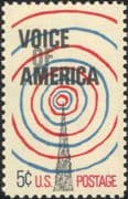 USA 1967 Voice of America/ Radio Mast/ Tower/ Broadcasting/ Communications/ Telecomms 1v (n44999)