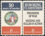 USA 1970 Disabled Veterans/ POWS/ Armed Forces/ Army/ Navy/ Air Force 2v pr (n45023)