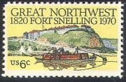 USA 1970 Fort Snelling  /  Buildings  /  Boats  /  Transport  /  Military  /  History 1v (n40809)