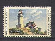 USA 1970 Lighthouse  /  Maritime Safety  /  Maine  /  Buildings  /  Architecture 1v (n23814)