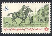 USA 1973 Horse  /  Rider  /  Mail  /  Post  /  Independence  /  Animals  /  Nature  /  Transport 1v (n24618)