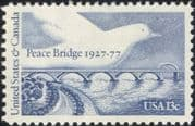 USA 1977 Peace Bridge/ Dove/ Architecture/ Transport/ Roads/ Birds/ River/ Engineering 1v (n45002)