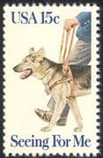 USA 1979 Alsatian Guide Dog/ Medical/ Health/ Blind/ Animals/ Disabled 1v (n28999)