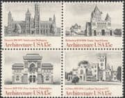USA 1980 Architects/ Buildings/ Architecture/ Church/ Institute 4v set blk (n44748)