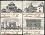 USA 1981 Architects/ Buildings/ Architecture/ Library/ Bank/ Palace 4v blk (n43288)