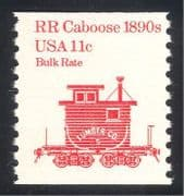 USA 1981 Caboose  /  Rail Car  /  Railway  /  Transport 1v (n24538)