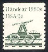 USA 1981 Handcar  /  Rail  /  Railway  /  Transport 1v (n24281)