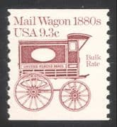 USA 1981 Horse Drawn Mail Wagon/ Coach/ Post/ Postal Transport 1v coil (n24525)