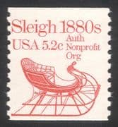 USA 1981 Horse-drawn Sleigh/ Sledge/ Carriage/ Transport 1v coil (n29303)