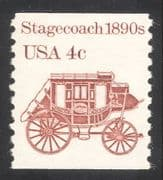 USA 1981 Horse drawn Stagecoach/ Coach/ Carriage/ Transport 1v coil (n24537)
