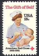 USA 1981 Red Cross  /  Medical  /  Health  /  Nurse 1v (n29041)