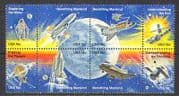 USA 1981 Space  /  Astronauts  /  Moon Landing  /  Shuttle  /  Satellite  /  Planets 8v blk (n22681)