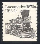 USA 1981 Steam Engine  /  Train  /  Railway  /  Transport 1v n24278