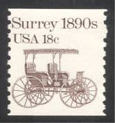 USA 1981 Surrey/ Horse-drawn Carriage/ Coach/ Transport 1v coil (n29302)
