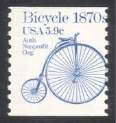 USA 1981 Transport/ Bicycle/ Bike/ Cycling/ Penny-farthing/ History 1v coil (n24540)